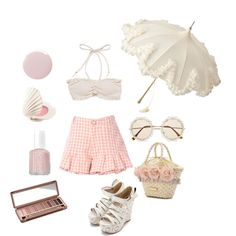Stroll in the park by ricehime on Polyvore featuring Urban Decay, H&M, Essie and Deborah Lippmann