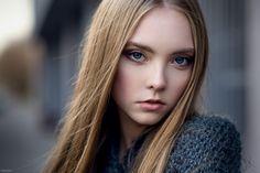 People 2048x1367 sweater blue eyes blonde Ksenia Palenova Maxim Magazine