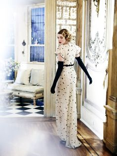 lovely  black & white polka dots gown from Valentino...