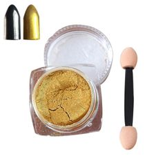 Susenstone 2g/ Box Sliver Nail Glitter Powder Shinning Nail Mirror Powder Makeup Art DIY Chrome Pigment (Gold) ** Check this awesome product by going to the link at the image.