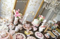 the table for this shabby chic tea party