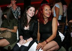 Anne Hathaway and stylist Patricia Field smiled big at Angel Devil ...