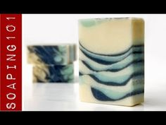 Cold Process - Tilted Tiger Stripe Swirl Soap {feather swirl top} S2W24