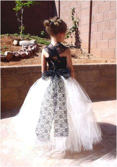 Black and White Flower Girl Dresses | Mine Forever