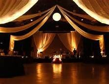 Ceiling - decorating a gym for a wedding reception - Bing Images