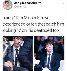 Let's meet up and share some aging secrets. *cracks knuckles* *whispers* I'm still young and I wanna stay looking that way- Exo Ot12, Chanbaek, Exo Xiumin, Exo K, Exo Memes, Funny Memes, K Pop, Steven Universe, Xiuchen