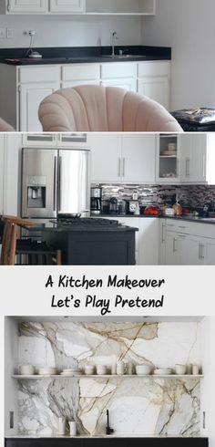 A Kitchen Makeover — Let's Play Pretend - kitchen Interior Projects, Makeover, Kitchen Tiles, Pretend Kitchen, Kitchen Decor, Wet Bar Designs, New Countertops, New Kitchen, Kitchen Makeover