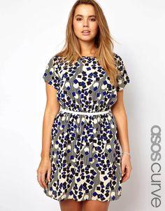 ASOS CURVE Exclusive Geo Print Dress #plussize @asos.com.com.com.com