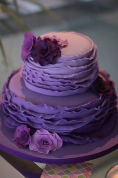 21st Birthday Cake For Girls, 70th Birthday, Birthday Cakes, Purple Cakes, Sweet Pastries, Cake Pictures, Occasion Cakes, Girl Cakes, Amazing Cakes