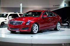 Cadillac ATS 2013 in red