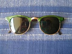 Retro Sunglasses Style Glasses Green 50s 60s 70s Vintage Hippie Goa Fifties