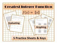 Printables Greatest Integer Function Worksheet greatest integer function worksheet davezan the precalculus second semester