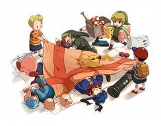 Super Smash Bros via Pixiv