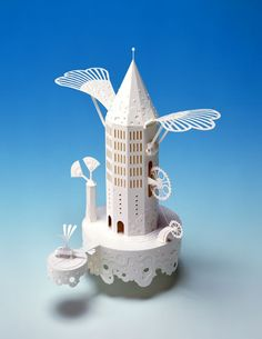 Hideharu Naitoh paper sculpture  - was going to pin to my Crafts board then realized ... no, not in a million years could I do that!