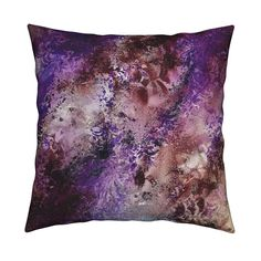 Purple and red : Lux accent pillow by heather_gellately Luxury Home Decor, Luxury Homes, Purple Accents, Cloth Napkins, Artwork Prints, Poplin Fabric, Accent Pillows, Modern Decor, Decorative Throw Pillows