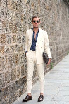 "Via filippocirulli: ""White Suit: my first look for Paris Fashion Week"""