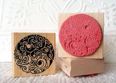 Saltspring Yin Yang rubber stamp from oldislandstamps