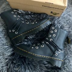 039b1318ff0 Dr. Martens Shoes - Dr Martens Black Daria Lausanne+Stone Leather Boot
