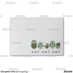 Shop Energetic Owls Post-it Notes created by Imagology. Owl Cartoon, Sweet Notes, Sticky Notes, Owls, Prints, Cute Notes, Owl, Tawny Owl