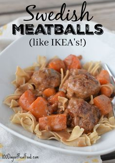 Swedish Meatballs (like IKEA's!) on 100 Days of Real Food