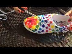 DIY Sharpie Tie Dye Shoes - YouTube