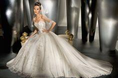 Natural waist chapel train sleeveless organza charming bridal gown - My wedding ideas