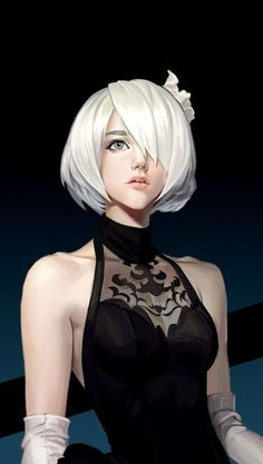 Nier/Nier: Automata and Drakengard Trilogy. Discussions on the games, art books,. Female Character Design, Character Art, Fantasy Characters, Female Characters, Neir Automata, Nier Automata A2, Sr1, Digital Art Girl, Fantasy Girl