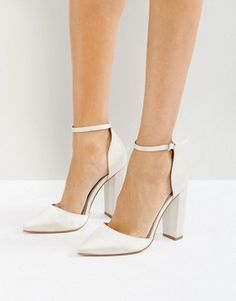 High Heels | Block Heels & Platforms | ASOS Converse Wedding Shoes, Wedge Wedding Shoes, Wedding Heels, Bride Shoes, Wedding Shoes Block Heel, Bridal Heels, Designer Wedding Shoes, Platform Block Heels, Satin Shoes