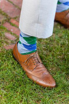 Plaid Socks for the I Chelsea Elizabeth Photography I Wedding Gallery, Wedding Photos, Wedding Ideas, Brewery Wedding, Groom Accessories, Sock Shoes, Men's Shoes, Argyle Socks, Groom And Groomsmen Attire