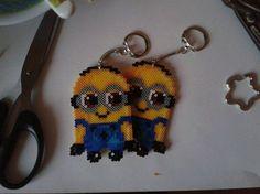 Minions Hama mini Perler keychains by Awi87 on DeviantART