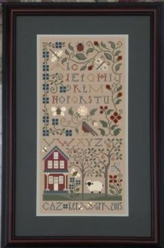 The Pastoral is the title of this cross stitch pattern from The Drawn Thread that is a tribute to Mother Nature at its best.