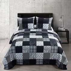 Striped Quilt, Grey Quilt, Black Quilt, King Quilt Sets, Queen Quilt, Twin Quilt, Quilt Bedding, Black And White Quilts, Black White