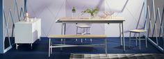 Dodie Extending Dining Table #GrandDesignsHeals Modern Furniture, Furniture Design, Grand Designs, Extendable Dining Table, Coastal Living, Small Spaces, Stool, Sweet Home, Healing
