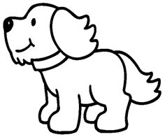 Dog coloring page - Printable image. Farm Animal Coloring Pages, Dog Coloring Page, Easy Coloring Pages, Free Printable Coloring Pages, Farm Quilt, Dog Quilts, Embroidery Patterns, Quilt Patterns, Learn To Sketch