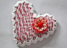 kerstie pederson  Valenitne's Day Craft DIY Lapel Pin  Bakers twine craft  whisker graphics divine twine