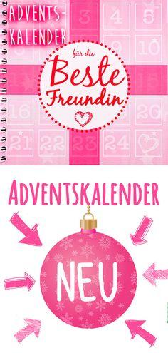 Adventskalender für die beste Freundin | hier kaufen Calm, Artwork, Ideas, Advent Calendar Gifts, Stocking Stuffers, Work Of Art, Auguste Rodin Artwork, Artworks, Thoughts