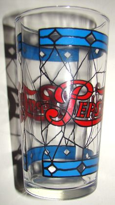 """Vintage Pepsi glasses, I have the pitcher too. ...""""i just scored 2 of these and 2 others at an antique show""""... """"building up MY pepsi collection'"""