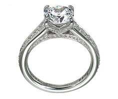 From Ritani - 18k white gold engagement ring | Rogers Jewelry Co.
