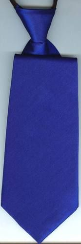Boys Adjustable Zipper Neck Tie Formal Solid Shiny Dark Royal Blue No Tie   eBay