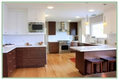 Excellent idea on Veneer Kitchen Cabinets With Dark Brown Paint Colors