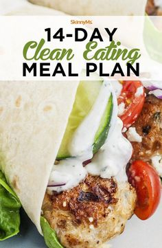 At the end of this 14-day clean eating meal plan program, your body will feel great and you'll be well on your way to reaching your weight-loss goal! #StomachFatBurningFoods Clean Eating Meal Plan, Clean Eating Recipes, Clean Eating Snacks, Diet Recipes, Healthy Recipes, Eating Raw, Lunch Recipes, Clean Eating Chili, Vegetarian Recipes