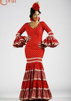 Flamenca Dresses With Sleeves, Long Sleeve, Coral, Vintage, Style, Fashion, Flamenco Dresses, Sevilla, Swag