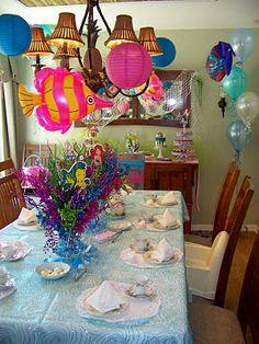 Ariel party. Beautiful centerpieces