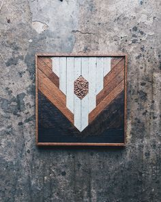 """1767 Private Collection - Wall Art - 16""""x16"""" Made from reclaimed house wood from Nashville, TN & textured copper"""
