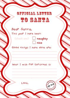 Free letter to santa template first grade pinterest santa letter to santa free printable spiritdancerdesigns Images