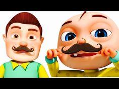 Funny Little Babies Wearing Mustache | Five Little Babies Collection | Zool Babies Fun Songs - YouTube