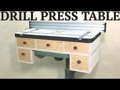 The drill press is one of the most valuable tools you can have in your shop; They're also a tremendous waste of space! I combat that a little bit in this video by.