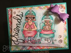 """Spa Day using """"Salon Deirdery """" from Dr, Digi's House of Stamps Funny Cards, Spa Day, Cool Cards, Card Ideas, Projects To Try, Stamps, Card Making, Invitations, Cool Stuff"""