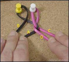 Trenza redonda de 4 cabos Knots, Design, Divas, Jewelry, Leather Art, Diy Kid Jewelry, Bracelets, Vixen Sew In, Braided Leather Bracelets