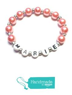 Personalized name bracelet girls beaded name bracelet girls bracelet from Bravura https://www.amazon.com/dp/B01DQ25ZIK/ref=hnd_sw_r_pi_dp_WMRWybV6F1FCD #handmadeatamazon